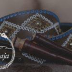 Knivbälte med samiska knivar. Samiskt hantverk. Sami handicraft studded belt.